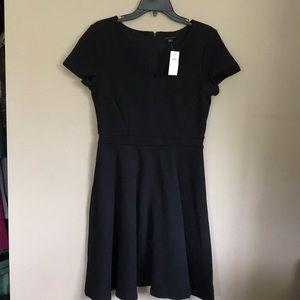 Ann Taylor Black Ribbed Dress